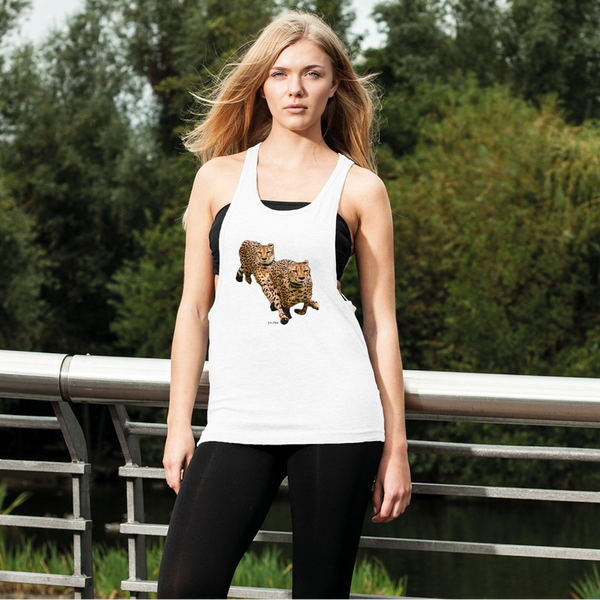 The Cheetah Brothers Women's Loose Racerback Tank Top