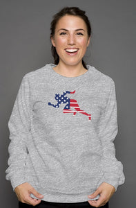 "Flag ""Running Man"" unisex crew neck sweatshirt"