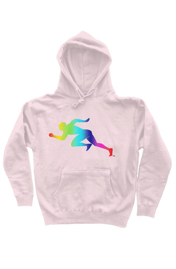 "Rainbow ""Running Man"" independent heavyweight pullover hoodie"