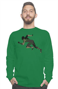 "Camouflage ""Running Man"" gildan long sleeve tee"