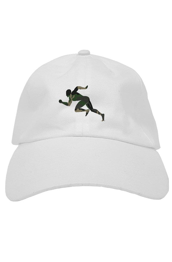 "Camouflage ""Running Man"" soft baseball caps"