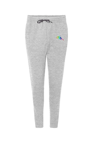 "Rainbow  ""Running Man"" Jerzees Nublend Joggers"