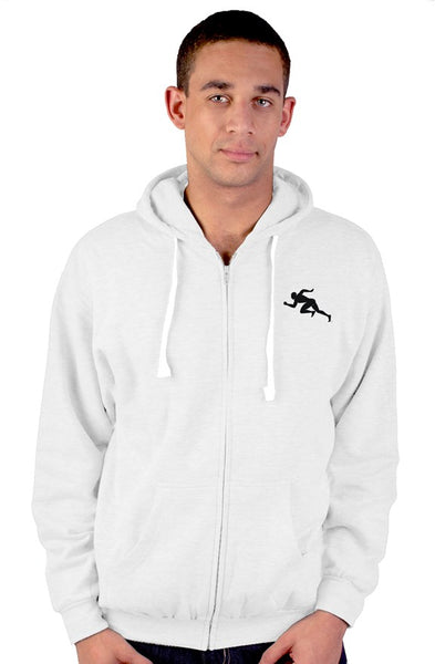 "Running Man"" zip up hoody"