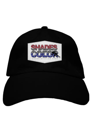 """Shades of Color"" baseball caps"