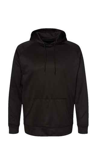 All Black Performance Raglan Pullover Sweatshirt