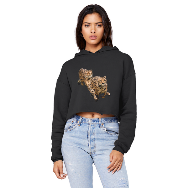 The Cheetah Brothers Unisex Cropped Raw Edge Boyfriend Hoodie