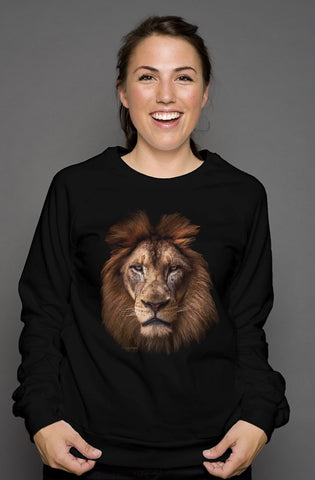 """TheRegal Lion"" unisex crew neck sweatshirt"