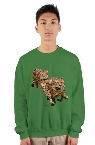 """The Cheetah Brothers"" gildan heavy crewneck sweatshirt"