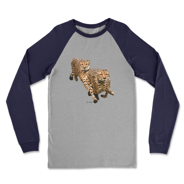 The Cheetah Brothers Classic Raglan Long Sleeve Shirt