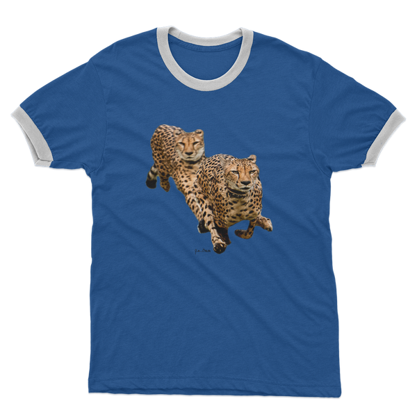 The Cheetah Brothers Adult Ringer T-Shirt