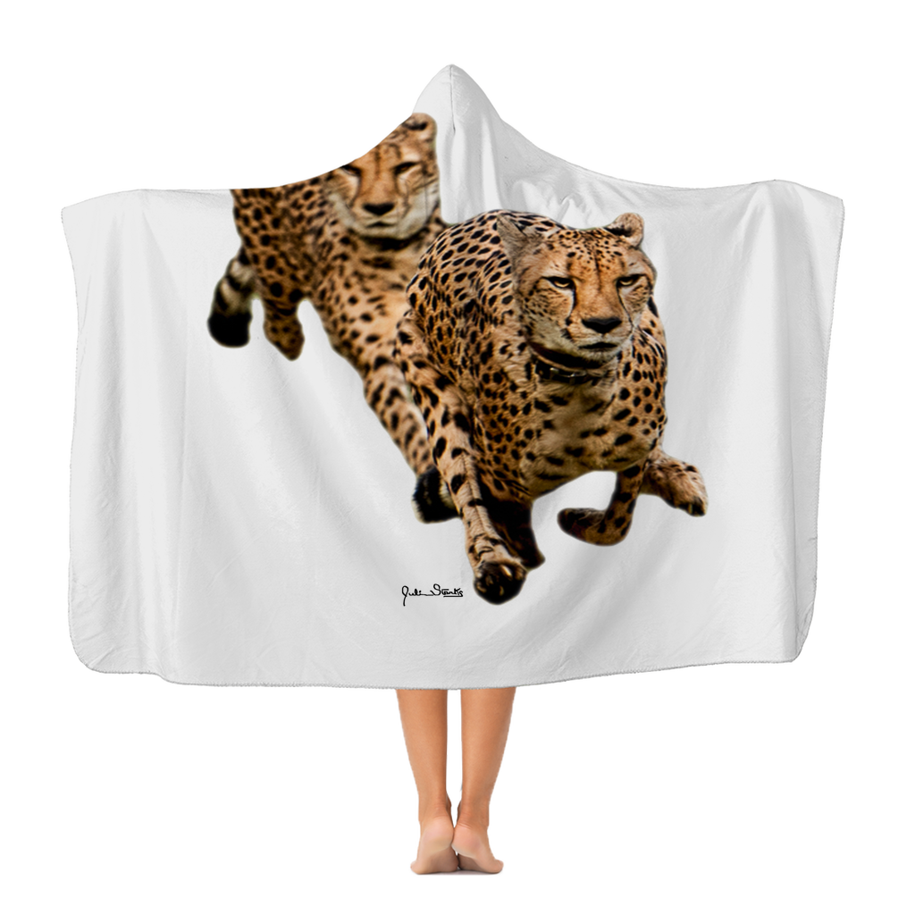 The Cheetah Brothers Classic Adult Hooded Blanket