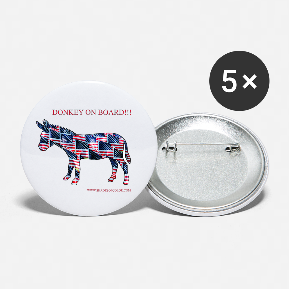 """Donkey on Board"" Button! - white"