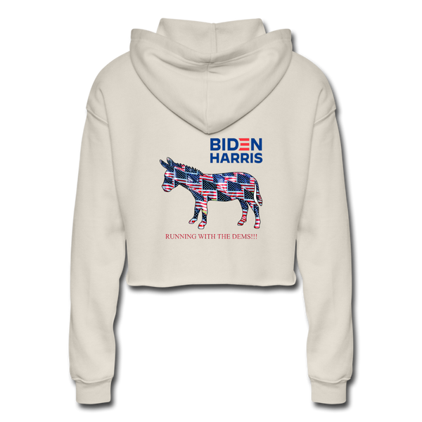 "Biden/Harris ""This is America"" Women's Cropped Hoodie - dust"