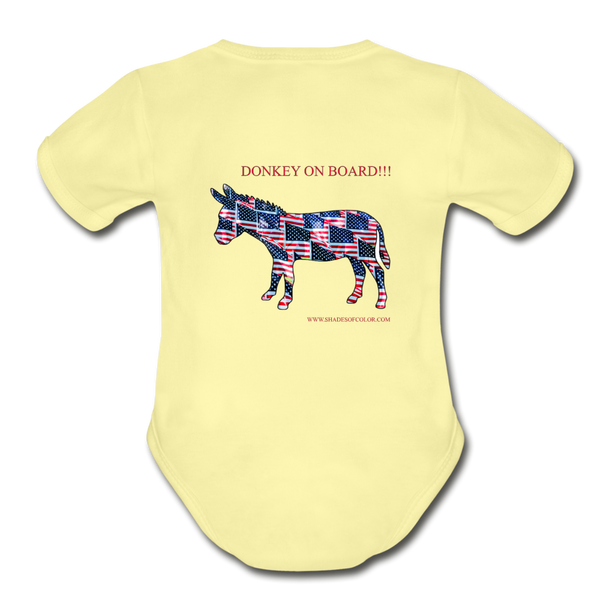 "Biden/Harris ""This is America"" Baby Bodysuit! - washed yellow"