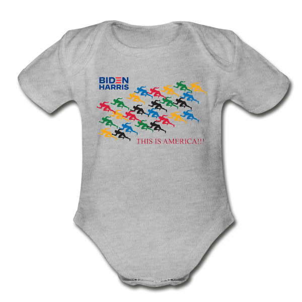 "Biden/Harris An Awesome ""This is America"" Baby Bodysuit! - heather gray"