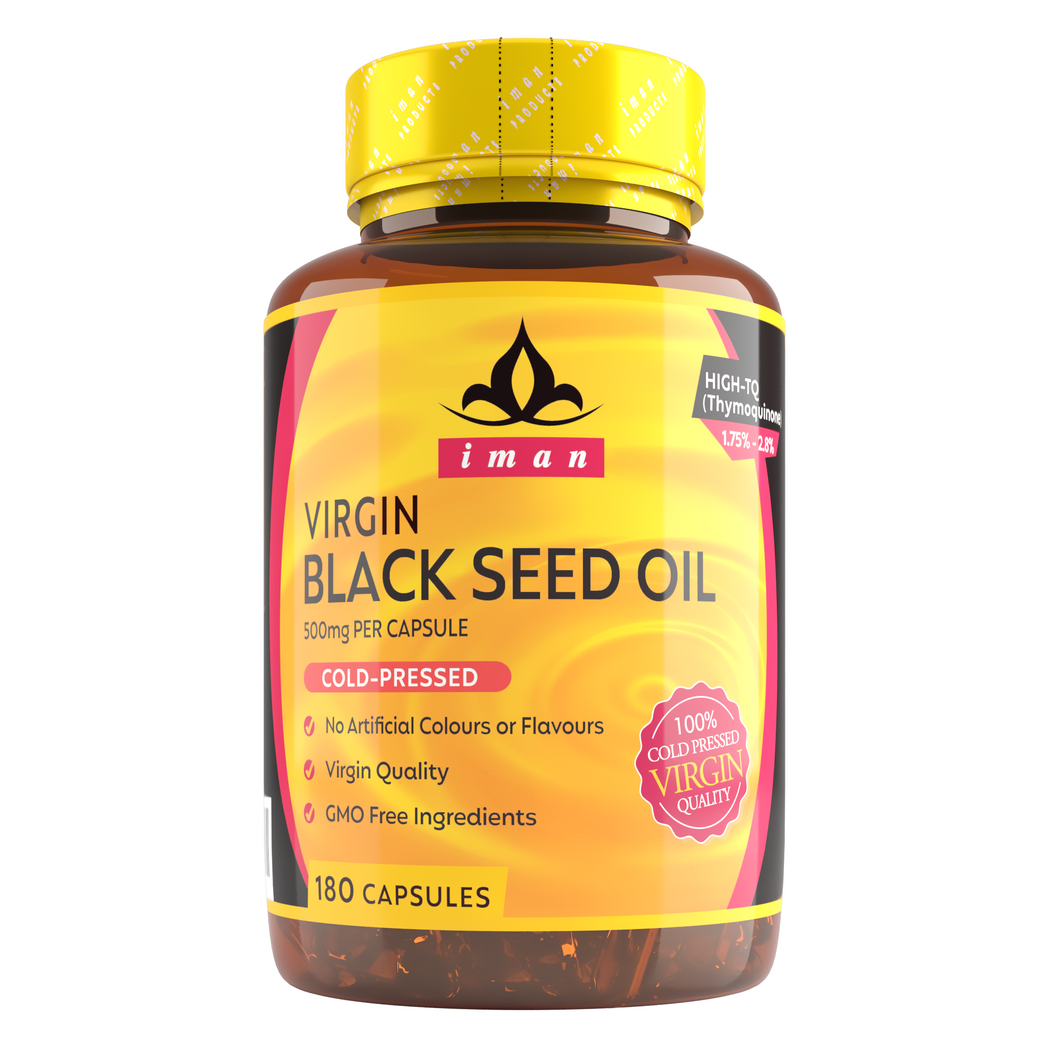 Black Seed Oil (180 Capsules) - High-TQ, MAX Strength 500mg Cold-Pressed - USDA Organic - Non-GMO, Natural, 100% Virgin - 500mg 180 Capsules…