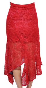 'AS002 ' Lace asymmetrical skirt
