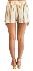 'DG003' Linen stripe big pocket shorts