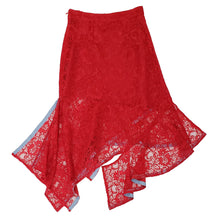 Load image into Gallery viewer, 'AS002 ' Lace asymmetrical skirt