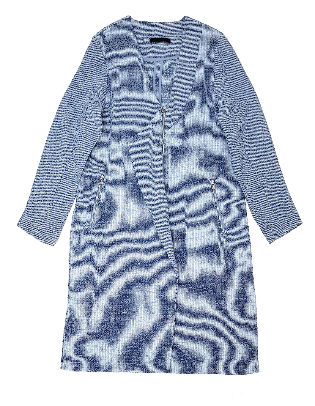 Metallic tweed coat