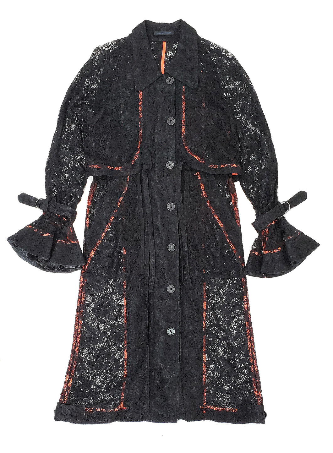 'TC003' Lace trench coat