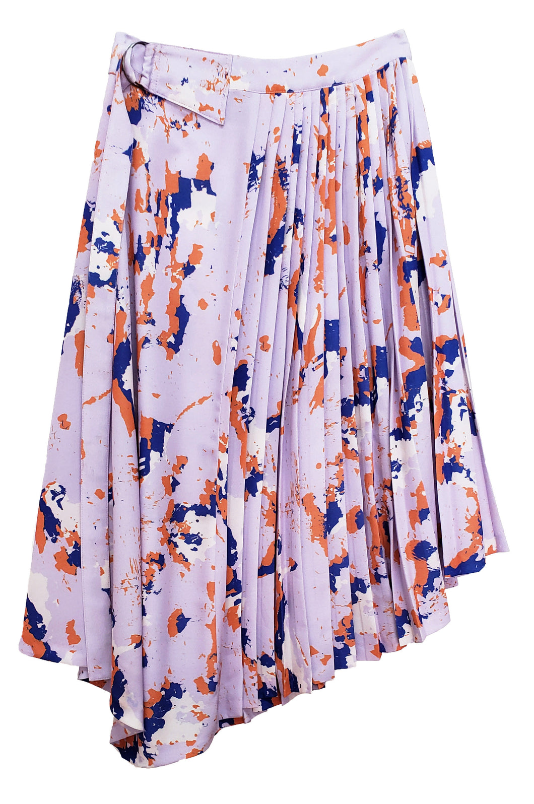 'VS002 'Unity print asymmetrical skirt