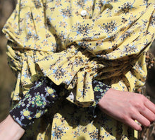 Load image into Gallery viewer, 【Pre-order】Mexican flower print two-way Shirtdress
