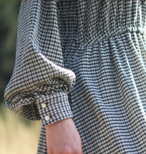 Load image into Gallery viewer, 【Pre-order】Checked shirring long sleeve Dress