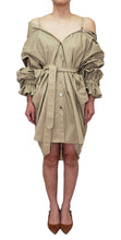 Load image into Gallery viewer, 【Pre-order】Two-way Shirt dress with Purepecha artisan woven tape