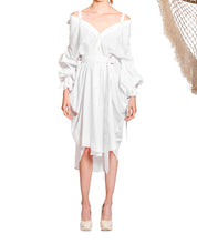Load image into Gallery viewer, `SD001` Volume shirt dress with Purepecha woven tape