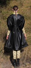 Load image into Gallery viewer, 【Pre-order】Cactus leather puff sleeve Dress