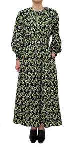 【Pre-order】Mexican flower print long sleeve Dress