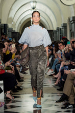 Load image into Gallery viewer, 'BZ002' Palm Jacquard pants with Purepecha artisan woven tape