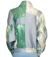 Load image into Gallery viewer, 'La flor' Jacquard blouson with Purepecha tape and Huichol beads