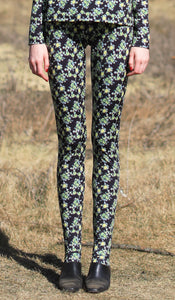 【Pre-order】Mexican flower print jersey leggings