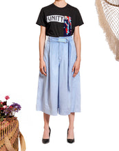 Load image into Gallery viewer, `SC001`Suede culotte with Purepecha woven tape belt