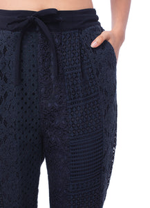 'GL001' Multiple lace pants