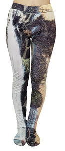 【Pre-order】Mexican landscape print hight-neck jersey Leggings