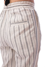 Load image into Gallery viewer, 'CL002' Linen striped pants with Purepecha artisan woven tape