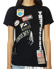 Load image into Gallery viewer, 'El tiempo' Patch T-shirt with Purepecha tape