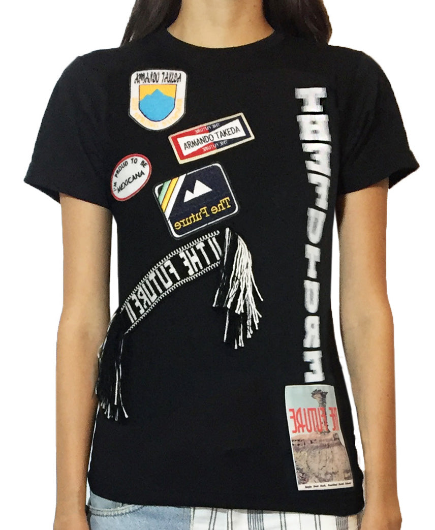 'El tiempo' Patch T-shirt with Purepecha tape