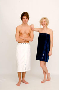 White unisex beach or bath wrap