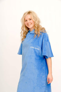 Blue personalised name changing robe