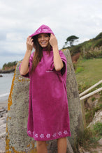 Load image into Gallery viewer, Pink organic cotton changing robe