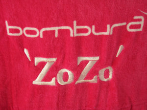 Pink personalised name changing robe