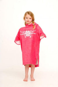 Pink personalised name changing robe - Bombura Changing Robes