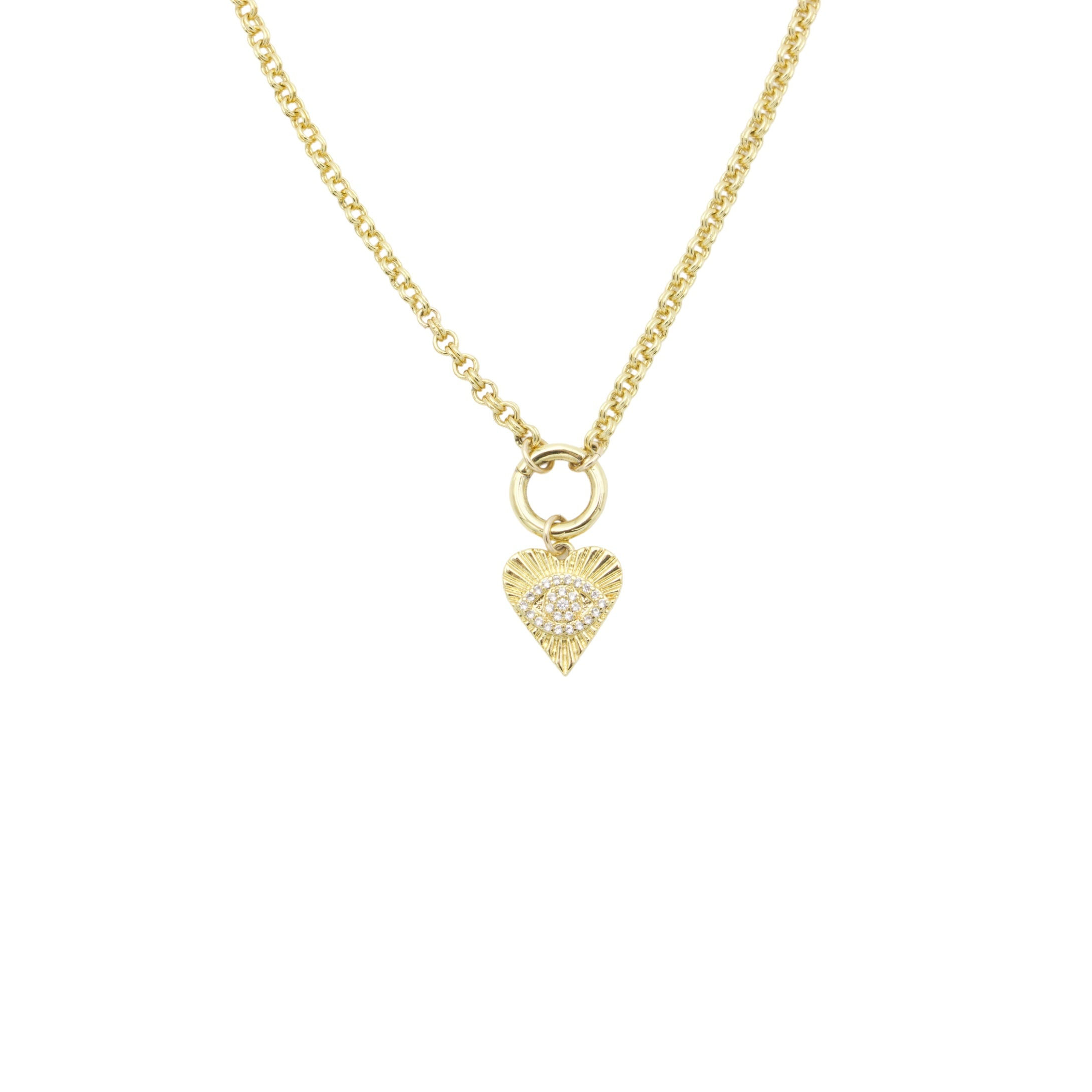 AW Boutique's 20 inch long Evil Eye Vintage Heart Necklace is a limited edition release designed for Mothers Day.