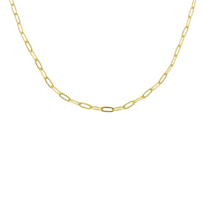AW Boutique's Fine Paperclip Layering Chain in either a 20 inch or 22 inch option.