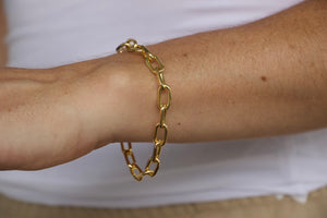 Thick Cable Link Bracelet