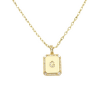 Load image into Gallery viewer, AW Boutique's gold filled 16 inch cable chain necklace finished with a dainty initial pendant with cubic zirconia detail. G initial shown.